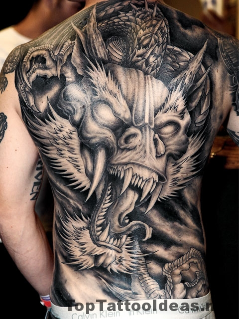 Perfect Chinese Dragon Tattoo Designs For Men