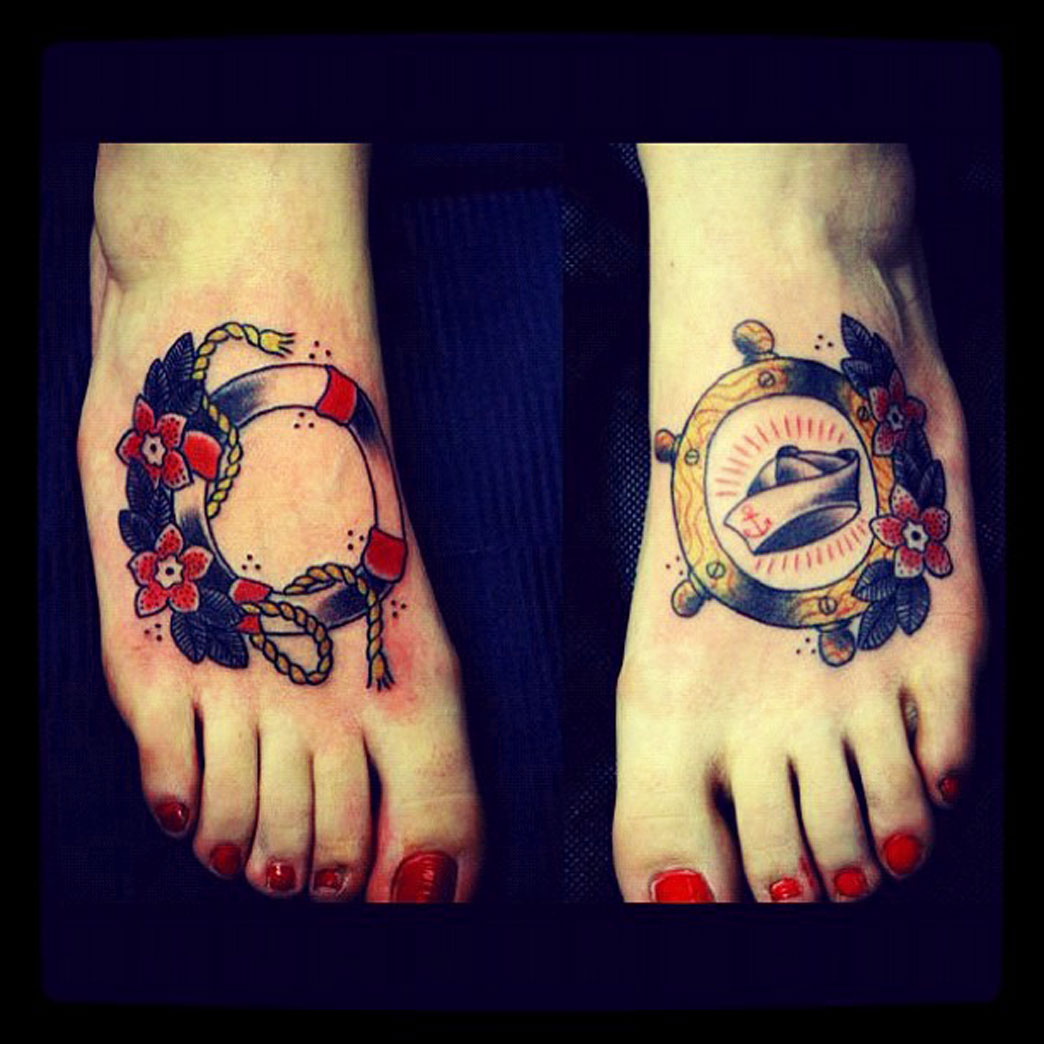 Sailor Foot Tattoos Tattoo Idea