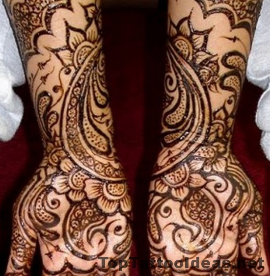 Wonderful Henna Tattoo Designs For Arms