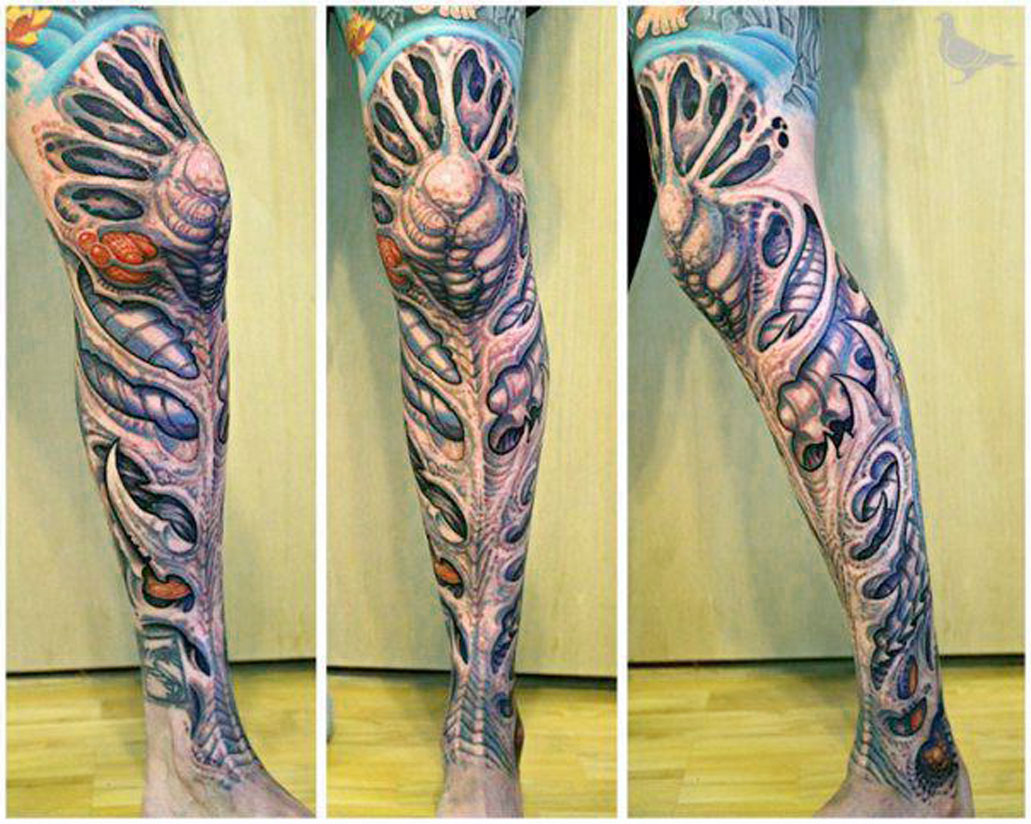 Amazing Full Leg Tattoo Idea