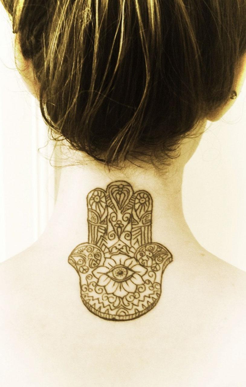 Back Neck Tattoo Idea