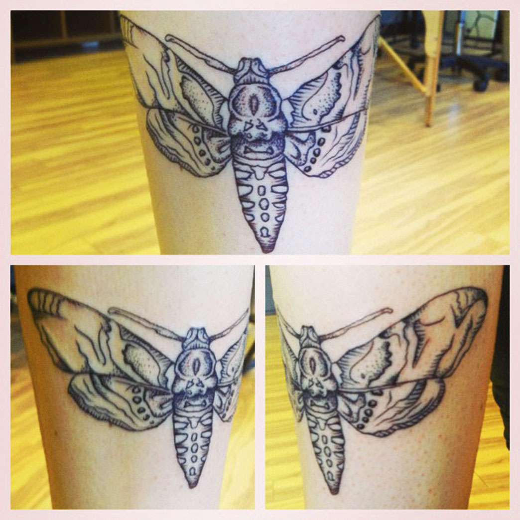 Butterfly Tattoo On Leg Idea