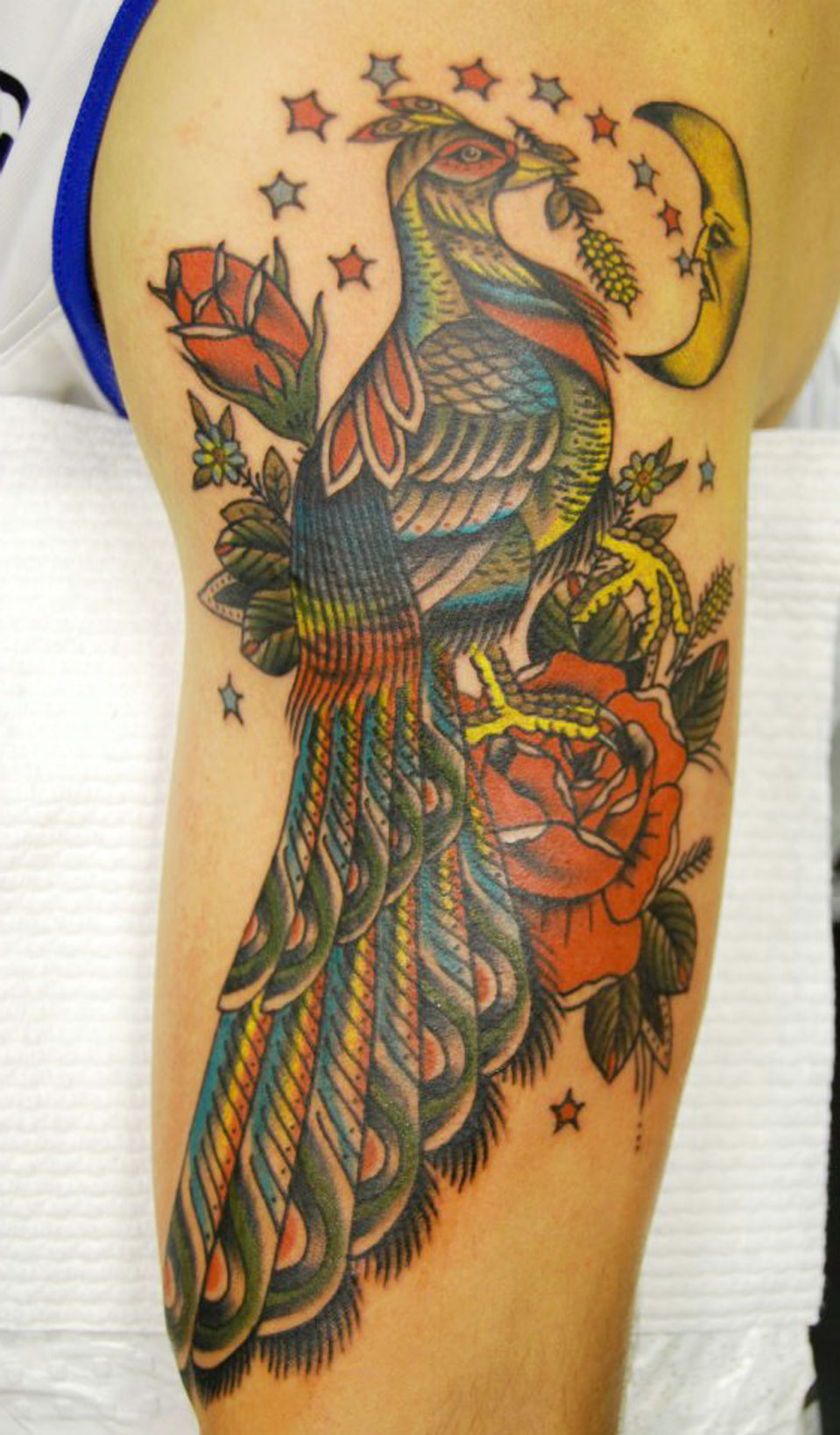 Colourful Bird Tattoo Idea
