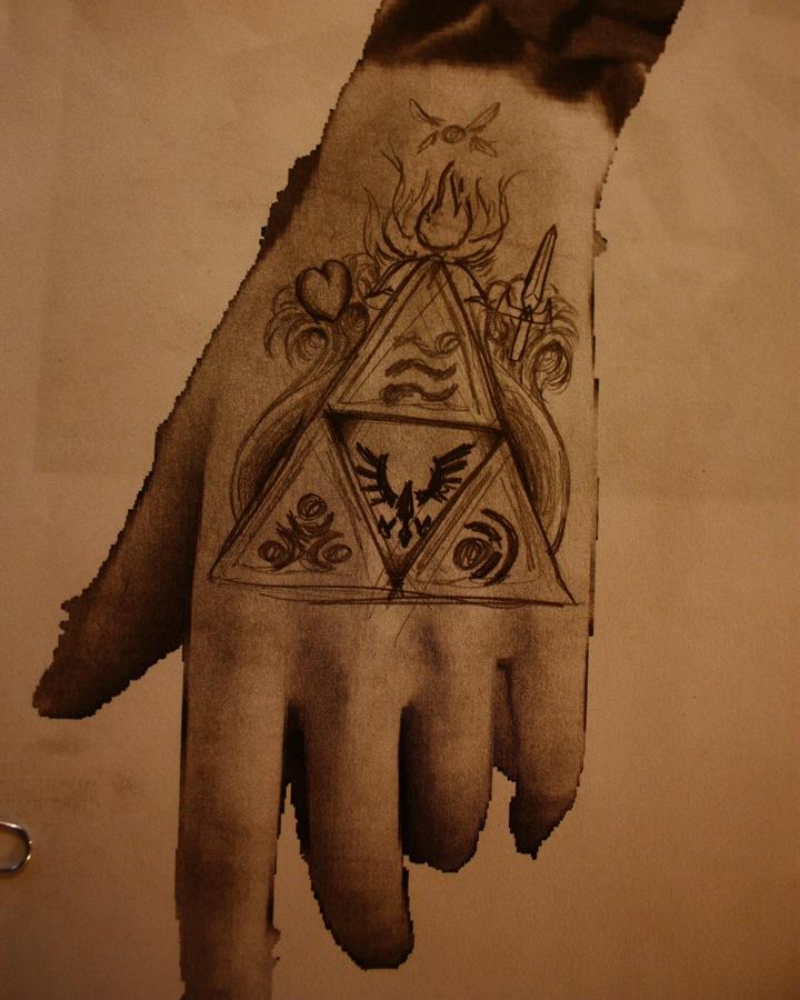 Cool Triforce Hand Tattoo