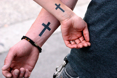 Cross Tattoos On Wrist