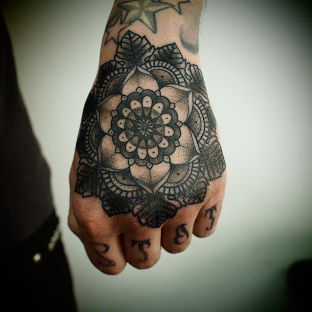 Hand Mandala Tattoo Idea