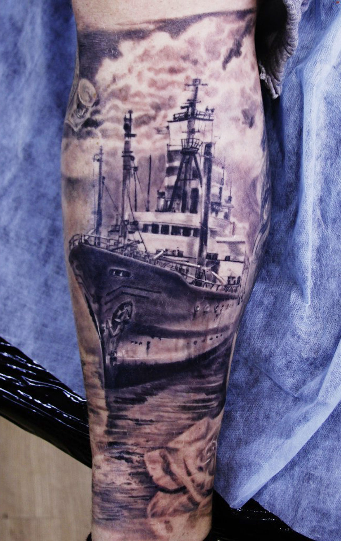 Incredible Ship Tattoo Idea
