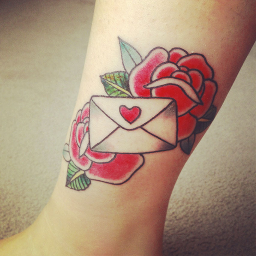 Love Letter Tattoo Idea