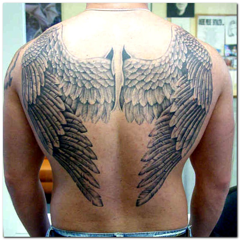 Nice Angel Wings Tattoo Designs For Men