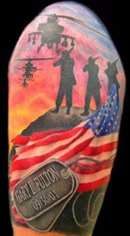 Nice Army Tattoo Designs For Men