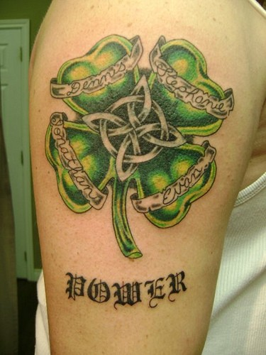 Nice Four Leaf Clover Tattoos For Men