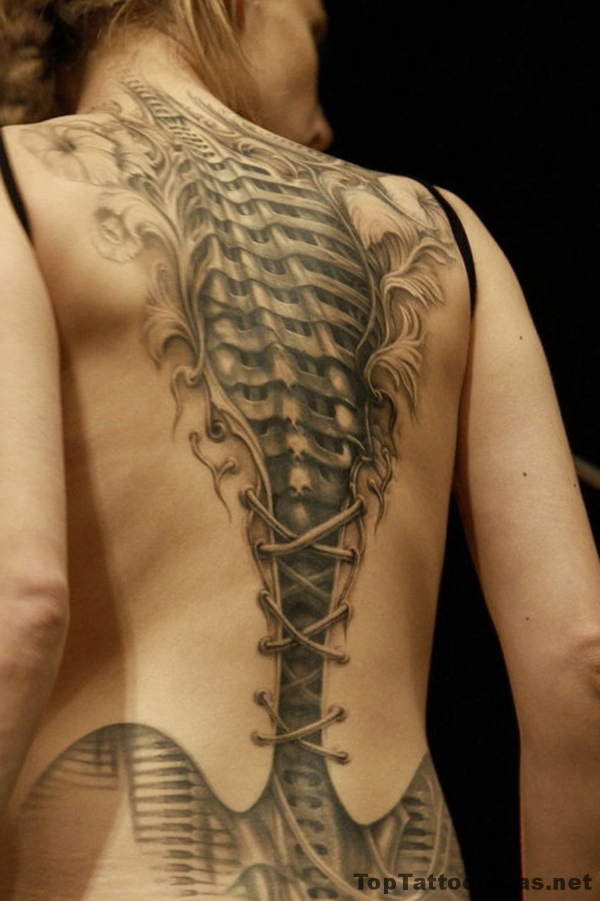Skilful 3d Back Tat Tattoo Idea