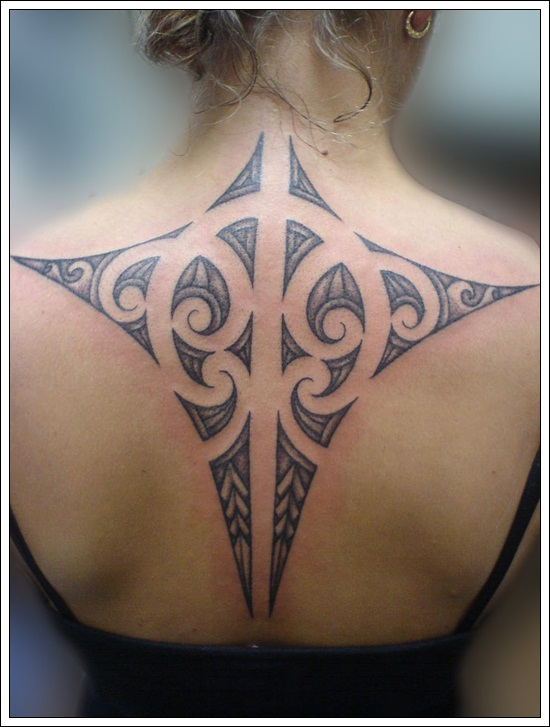 Tribal Back Tattoos For Women